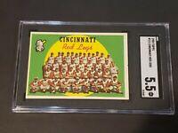1959 Topps Cincinnati Reds Legs Team SGC 5.5 Newly Graded & Labelled PSA BVS