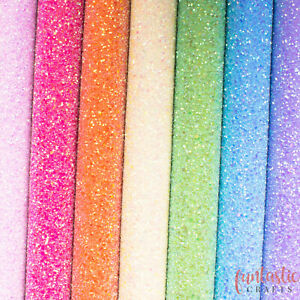 Iridescent Chunky Glitter Fabric A4 Sheets - Premium Quality For Crafts & Bows