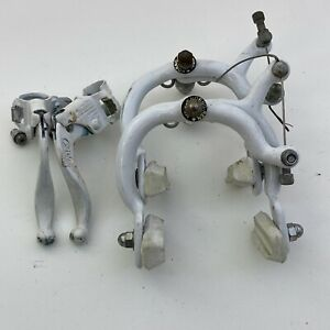 Vintage Old BMX Freestyle Calipers Levers 80s White A16
