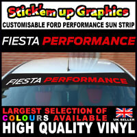 Fiesta Performance SUN STRIP Custom Colours Ford UK MADE ST RS Fast Dispatch