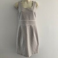 Banana Republic Women's Sz 6P 6 Petite Dress Stretch Sheath Striped Sleeveless