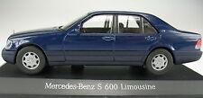 CEF-Mercedes-Benz S 600 Berline-Dans NEUF dans sa boîte -- bleu foncé -- 1:43 -- voiture miniature