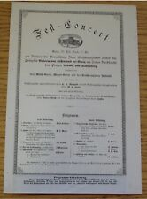 RARE CONCERT PROGRAMME 28 APR 1884 DARMSTADT MARRIAGE PRINCESS VICTORIA OF HESSE
