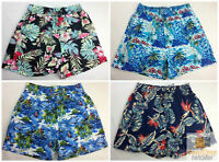 HAWAIIAN SHORTS Floral Beach 100% COTTON Surf Summer Casual Boardies S-XXL New