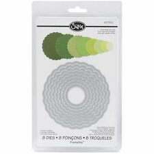 Sizzix Framelits Die Set 8PK - Circles, Scallop, New, Free Shipping