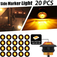 "20X Mini 3/4"" Amber LED Bullet Boat Truck Trailer Side Marker Turn signals Light"
