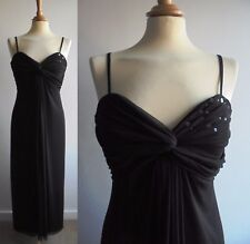 VERA MONT Black Mesh Midi Dress Cocktail Prom Sequined Small Size 12 fits a 10