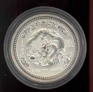 Dragon / Drache Lunar I 2000, 2 oz Silber