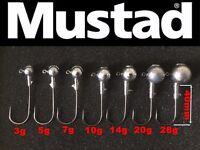 Round ball jig head 4/0 Mustad hooks. 3-10pcs. 7 sizes.pike,perch lure fishing