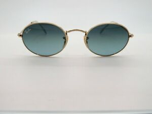Ray Ban Oval RB 3547 001/3M Gold/Blue-Grey Gradient 51mm Sunglasses