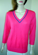 EP PRO Candy Pink/Sapphire Blue Lightweight 3/4 Sleeve V-Neck Sweater (M) NWT