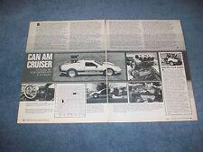 "1978 Kelmark GT ZL-1 Chevy Powered Kit Car Article ""Can Am Cruiser"""