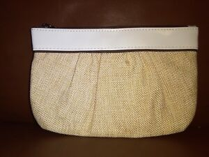 Mary Kay  Beige White  Cosmetic Makeup Bag