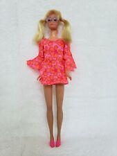 Vtg 1969 Blonde Pj Doll Lashes Original Clothes