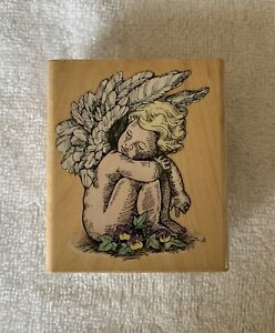 Stampendous RESTING CHERUB Rubber Stamp 1998 Never Used