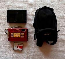 Sony Cyber-shot DSC-T100 8.1 MP Digital Camera - Red