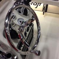 "Boat Stainless Steel 15-1/2"" Steering Wheel 3 Spokes With Knob 1/2"" -18 Marine"