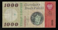 Poland 1000 (1,000) Zlotych, 1965 Pic# 141a Prefix D