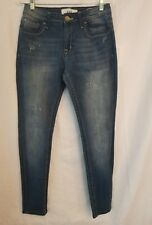 VGS Vigoss Roll Up Skinny Jeans Size 4 Flap Pockets  Factory Distressed