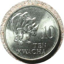 elf Zambia 10 Kwacha 1992 Rhino