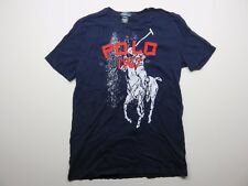 Men's Polo By Ralph Lauren Polo Player 1967 Graphic Navy Blue Size XL (18-20)