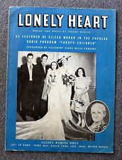 1936 LONELY HEART Sheet Music IREENE WICKER Pillsbury Flour Mills Company
