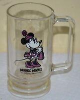 Vintage Walt Disney Collectible Minnie Mouse Glass Mug