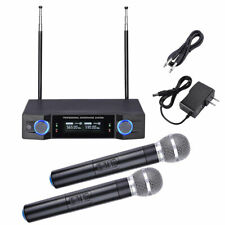Pro 2 Channel Receiver Uhf Wireless Microphone System w/ 2 Handheld Mics Audio