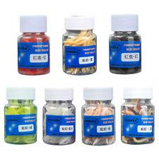 100pcs Earthworm Bait Maggot Grub Soft Worm Fishing Lures 1.6inch With Box