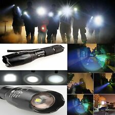 Zoomable XML-T6 3000Lumen Ultra 6000k LED Flashlight Focus Torch Light Lamp