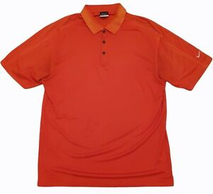nike golf mens short sleeve collared polo shirt sports wear orange size xl
