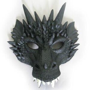Black Dragon Beast Molded Cosplay Adult Super Soft Halloween Face Mask