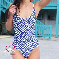 Brand New Design Sexy Brazilian Cut Reversible One Piece Bikini Set  Size M