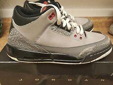 Nike Air Jordan 3 III Stealth Gray Basketball Shoes sz 7 sz 7y
