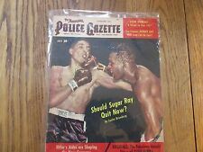 July 1952  Police Gazette Magazine Should Sugar Ray quit on cover