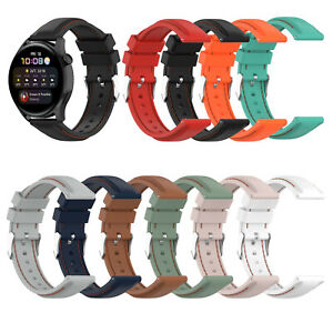 22MM Silicone Watch Strap Multi-color for Huawei Watch 3/ Watch 3 Pro Watch CAU