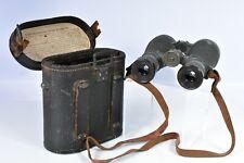 100% ORIGINAL 1917 WWI OIGEE BERLIN 08 BINOCULARS WITH STRAP & CASE FERNGLAS