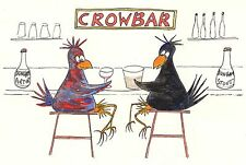 """Card: """"Crow At The CrowBar"""" #OffColour #PeterBrighouseIllustrator #corvid"""