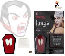 VAMPIRE Dracula FANGS Fake Teeth Caps With Putty Halloween Fancy Dress ZPC401
