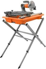 RIDGID 7 in. Tile Saw with Stand Die Cast Aluminum Table Adjustable Laser New