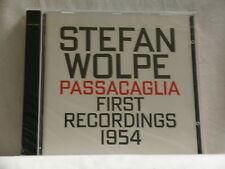 STEFAN WOLPE Passacaglia First Recordings 1954 David Tudor Hat Art SEALED CD