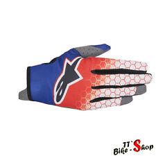 "Alpinestars ""Radar Flight"" MX-Handschuhe, Crosshandschuhe in Blau-Rot, 9 - L"