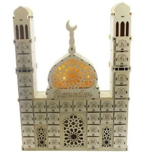 Ramadan Countdown Calendar DIY Wooden Eid Mubarak Ornament Drawer Party Decor
