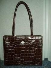 Leather Cutout Satchel - Brown Leather, Animal Pattern, Horse Detail