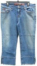 Women's Mudd Medium Wash Denim Cropped Jeans Capri Juniors Size 13