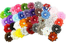 "Dozen 4"" Crystal Gerbera Daisy Hair Clips-U Pick Colors"