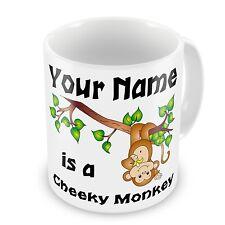 Personalised Cheeky Monkey Any Name Novelty Gift Mug - Naughty Rude - Brand New
