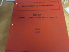 Onan Drn Diesel Electric Generating Plants Instruction Manual Used