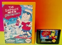 Bart vs. Space Mutants - Sega Genesis Rare Game w/ CASE + Cover Art - Tested