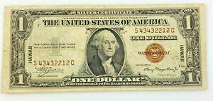 Hawaii 1935 A Silver Certificate $1 Dollar WWII One Dollar